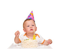 The one-year-old kid Royalty Free Stock Image