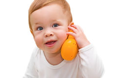 The one-year-old kid Royalty Free Stock Photography