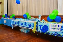 One year old party decor royalty free stock photos