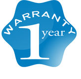 One year warranty Stock Photo