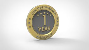 One Year Warranty royalty free illustration