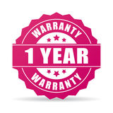 One year warranty icon. One year warranty star icon royalty free illustration
