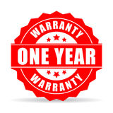One year warranty vector icon. Isolated on white background Stock Image
