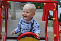 One Years old baby boy Royalty Free Stock Images