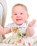 One years old baby girl Royalty Free Stock Image