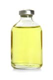 One  yellow bottle with essential oil Royalty Free Stock Image