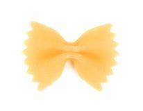 One yellow farfalle Stock Photography