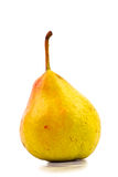 One yellow pear isolated. On white Royalty Free Stock Photo