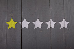 One yellow ranking star Royalty Free Stock Image