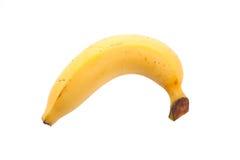One yellow ripe banana Royalty Free Stock Photography