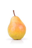 One yellow ripe pear Royalty Free Stock Photos