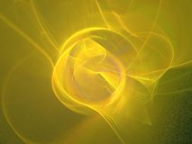 One yellow rose. Yellow Apophysis abstract, very colorful, very bright, best viewed full size Royalty Free Stock Photos