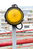 One yellow signal light mark Stock Photos