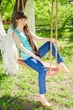 One young girl Royalty Free Stock Photography