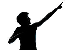 One young teenager boy or girl silhouette Stock Images