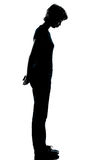 One young teenager boy or girl silhouette Royalty Free Stock Photos