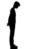 One young teenager boy or girl silhouette Stock Photos