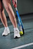 One young woman play tennis Royalty Free Stock Image