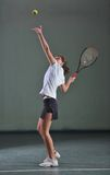 One young woman play tennis Royalty Free Stock Images