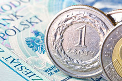 One zloty coin Royalty Free Stock Image