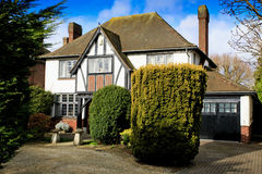 Onecht huis Tudor Royalty-vrije Stock Foto's