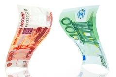 Oneffenheid-euro. Royalty-vrije Stock Foto
