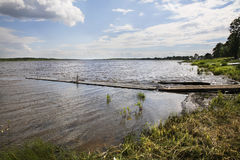 Onega river in Kargopol. Russia Stock Photography