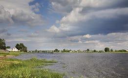 Onega river in Kargopol. Russia Royalty Free Stock Image