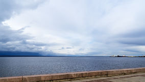Onego lake harbour in summer. Petrozavodsk city Royalty Free Stock Photos