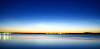 Onego lake at night Royalty Free Stock Photo
