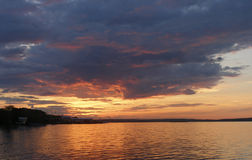 Onego's sunset Stock Photography