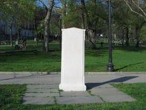 Oneida Football Plaque, terrain communal de Boston, Boston, le Massachusetts, Etats-Unis Photographie stock libre de droits