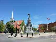 Oneida square. Round about in Utica Stock Photography