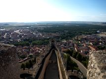 Oneindig balkon een kasteel Royalty-vrije Stock Afbeeldingen