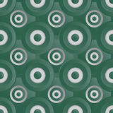 Oneindig groen roosterzilver Stock Afbeelding