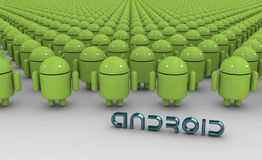 Oneindige Androids Stock Foto