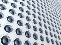 Oneindige Audio - Wit Royalty-vrije Stock Afbeelding