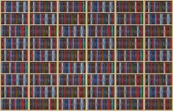 Oneindige boeken op boekenrek Stock Foto
