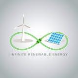 Oneindige Duurzame energie Royalty-vrije Stock Foto