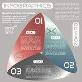 Oneindige het Lint Retro Kleur Drie van Infographicsopties Keuzen royalty-vrije illustratie