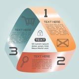 Oneindige het Lint Retro Kleur Drie van Infographicsopties Keuzen stock illustratie