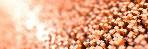 Oneindige kubussenachtergrond Stock Fotografie