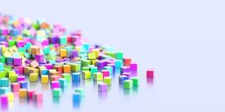 Oneindige kubussenachtergrond Stock Afbeelding