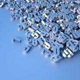 Oneindige random numbers stock illustratie