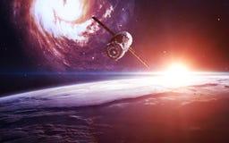 Oneindige ruimteachtergrond met nebulas en sterren Dit die beeldelementen door NASA worden geleverd royalty-vrije stock fotografie