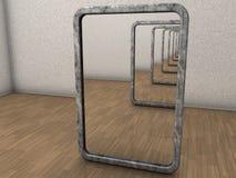 Oneindige spiegels Royalty-vrije Stock Afbeeldingen