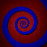 Oneindigheids digitale spiraalvormige, abstracte achtergrond Stock Foto's