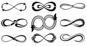 Oneindigheidssymbolen vector illustratie