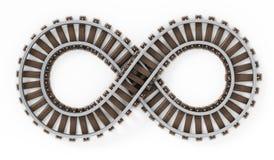 Oneindigheidssymbool gevormde spoorweg royalty-vrije illustratie