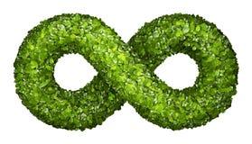 Oneindigheidssymbool van het groene gras Geïsoleerde Stock Foto